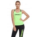 LONSDALE - Lonsdale T-Shirt - Gelb fluo / schwarz