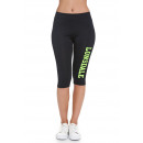 LONSDALE - Leggins Lonsdale - Black / yellow fluo