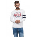 LONSDALE - Camiseta Lonsdale - Off white grey mela