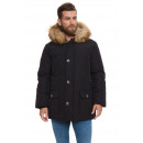 wholesale Coats & Jackets: LONSDALE - Abrigo Lonsdale - Black