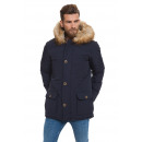 wholesale Coats & Jackets: LONSDALE - Abrigo Lonsdale - Dark blue