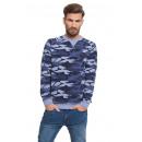 LONSDALE - Lonsdale Sweatshirt - Camouflage Blau