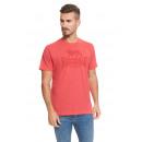 LONSDALE - T-shirt Lonsdale - Rouge chiné
