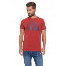 LONSDALE - Camiseta Lonsdale - Dark red