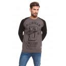 VARSITY - Go Detroit Sweatshirt - Dunkelgrau / Sch