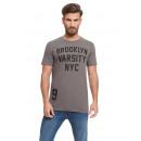 VARSITY - T-shirt Brooklyn - Charbon de bois