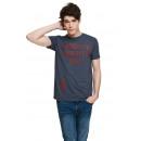 VARSITY - T-shirt Brooklyn - Bleu marine chiné