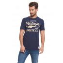 VARSITY - Camiseta Vintage Ath - Navy