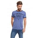 VARSITY - Camiseta Vintage Ringer - Heather blue /