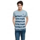 VARSITY - T-shirt VARSITY HERITAGE - Mélange bleu
