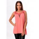 wholesale Fashion & Mode: TOP ZIPPE LACE CORAL 8927