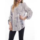 wholesale Fashion & Mode: PRINTED TUNIC GREY WRITING S7013