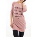 T-Shirt LONG WRITING S9009 PINK