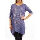 wholesale Fashion & Mode: TUNIQUE FLOCAGE BLUE S7038