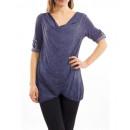 Großhandel Fashion & Accessoires:T-Shirt DRAPE BLUE S7034