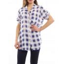 Großhandel Hemden & Blusen:PLAIDHEMD S9020 WHITE