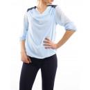 ingrosso Ingrosso Abbigliamento & Accessori: PIZZO CAMICIA spalle Blu S9027