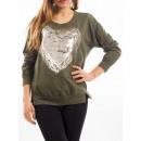 groothandel Kleding & Fashion: T-Shirt HART  SEQUIN Metalise  S7036 ...
