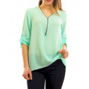 ingrosso Home & Living: TOP INDIETRO  ZIPPED PIZZO S9040 verde pastello