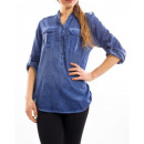 Großhandel Shirts & Tops: TUNIQUE S7023 BLUE WASHED EFFECT