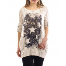groothandel Kleding & Fashion: T-Shirt MIX  MATERIAAL S9044 BEIGE