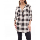 GROSS T-Shirt  PLAID ZIPPE GT1012 WEISS