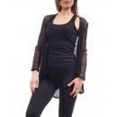 wholesale Fashion & Mode:VEST AJOURE S9061 BLACK