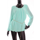 TUNIQUE + BELT  1807 Color: Pastel green
