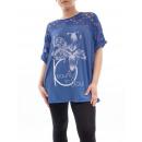 wholesale Fashion & Mode: LARGE T-Shirt  BI-MATERIAL BLUE GT1029