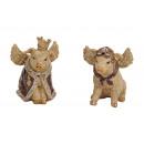 mayorista Artículos de regalo: Cerdo con alas de poli 2- veces surtido , (B / H