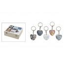Key ring Heart of marble, 3 cm