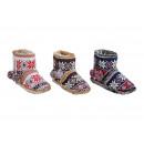 hurtownia Fashion & Moda: kapcie hut Ladies Knit 37/38 - 41/42 mamy brązowe