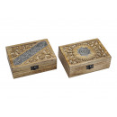 Jewelery box India wooden 2 times assorted , (B /