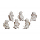 Angel sitting in poly, assorted, 11 cm
