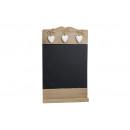 Memo tavole di legno per appendere con 3 cuori 24X