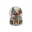 wholesale Gifts & Stationery: Music box / Snow globe Santa Claus, B20 x T16 cm
