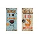 griglia Murale / barbecue in legno, 2 volte assort