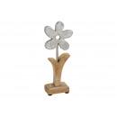 Fiore metallo / legno di mango metallo (B / H / D)