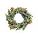 Luc koszorú hó műanyag zöld (B