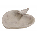 cuore Birdseed ciotola di argilla grigio (L / A /