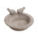 vassoio di alimentazione uccello grigio argilla (B