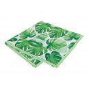 Tovaglia decorazione a foglia tropicale di verde t
