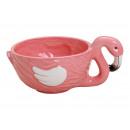 Flamingo guscio di ceramica di colore rosa / Rosa