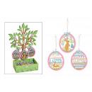 uovo di Pasqua Hanger con l'albero di Display
