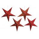 groothandel Home & Living: Leuchtstern papier in rood met 5 Pip, 4-