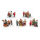 Figure in miniatura di Natale da poli assortito ,