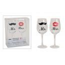 di bicchieri da vino Mr / Mrs, 2 pezzi 430 ml, B22