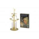 portacandele in metallo con angelo in oro, H30 cm