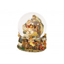 wholesale Snow Globes: Music box / snow globe Nativity scene made of poly