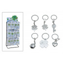 wholesale Gifts & Stationery: Key ring Lucky charm made of metal, 6-fold sor